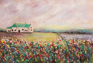 Cottage in the meadow- Fine Art Poster/Fine Art Print - Rose Hurles Art