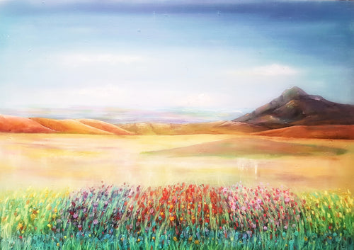 Meadow on the mountain- Fine Art Poster/Fine Art Print - Rose Hurles Art