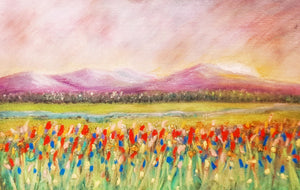 red meadow mountain- Fine Art Poster/Fine Art Print - Rose Hurles Art