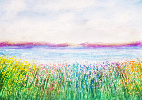 Meadow by the Loch- Fine Art Poster/Fine Art Print - Rose Hurles Art