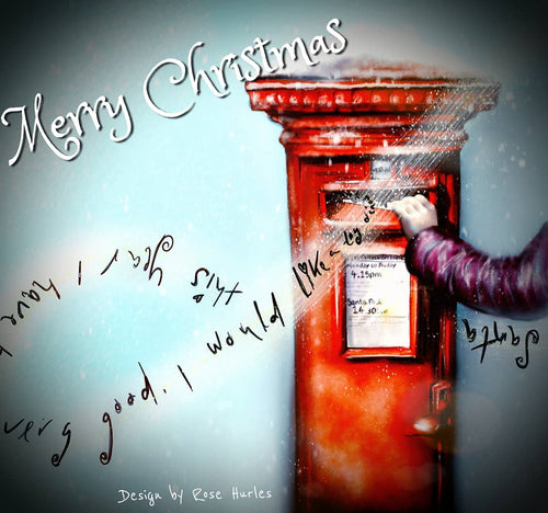 Christmas List- Postie Occassion Card - Rose Hurles Art