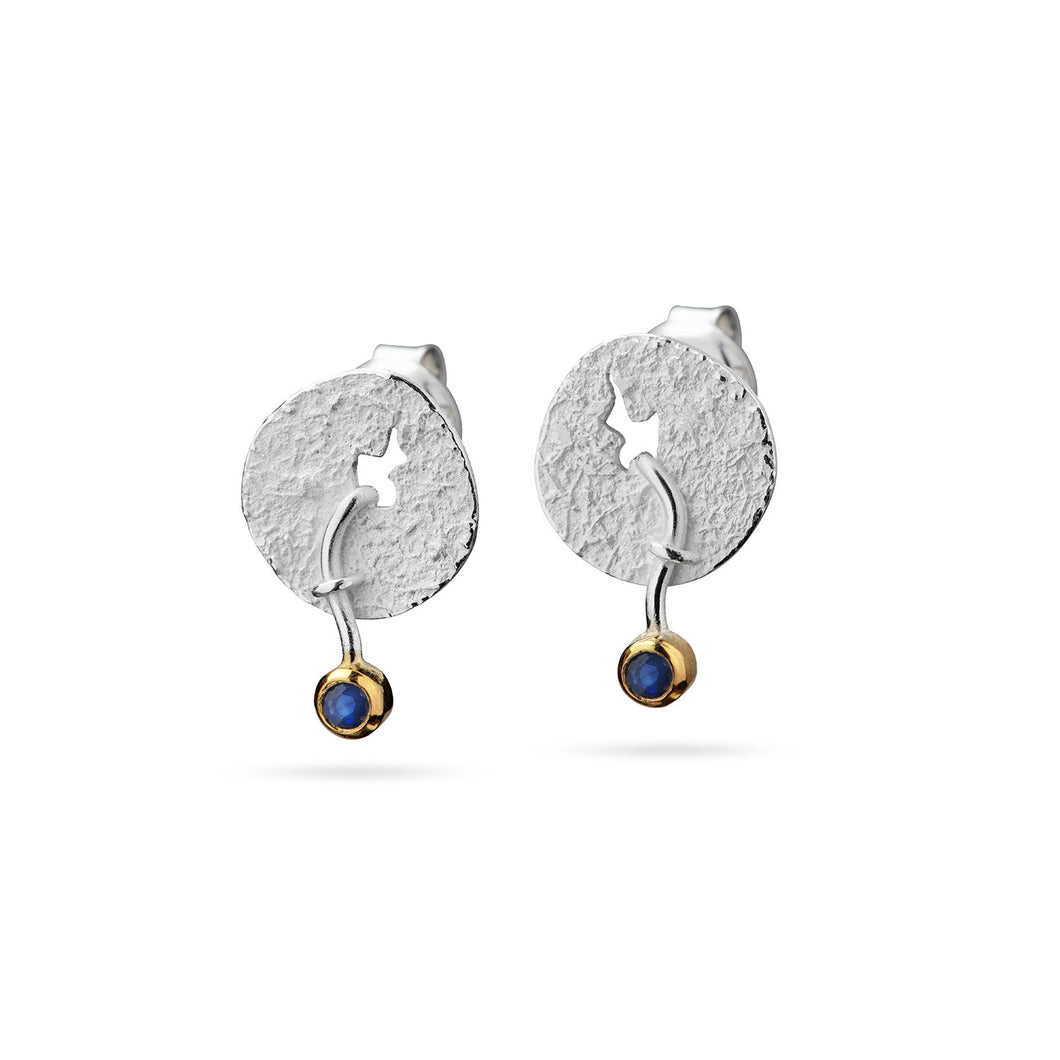 Earrings with fallen stone (stud earrings)