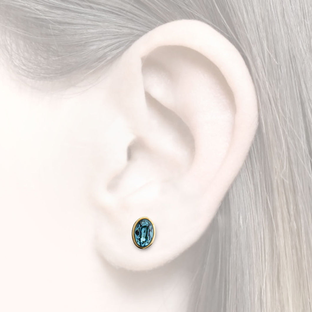 Earrings as an additions to the earcuffs with zirconia