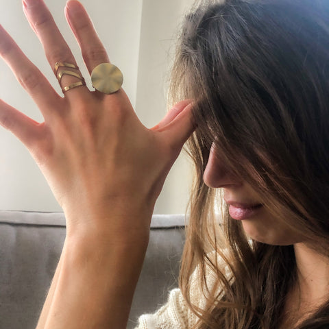 Oriane Attali Yoga Teacher wearing Tabei Ring from Jomami