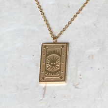 Load image into Gallery viewer, The Sun Tarot Card Pendant Necklace - Jomami