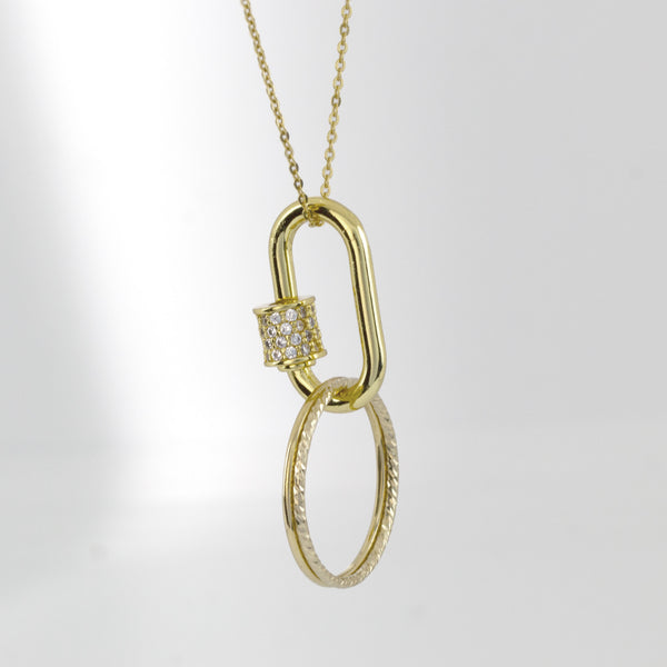 Kingsley Bejeweled Ring Holder Necklace - Jomami