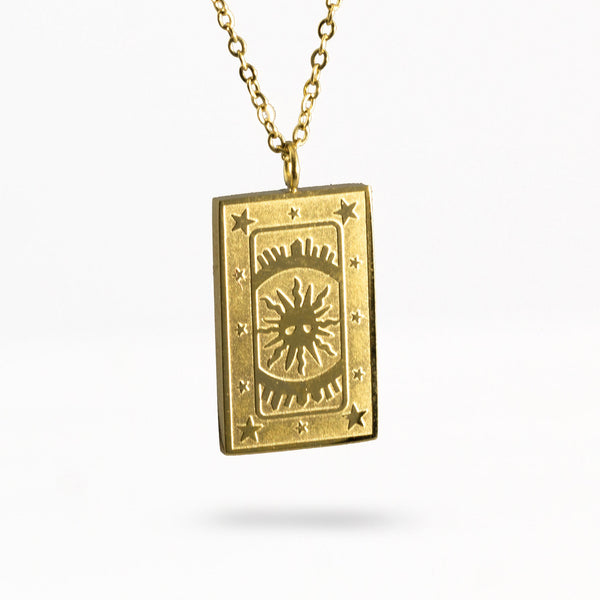 The Sun Tarot Card Pendant Necklace - Jomami