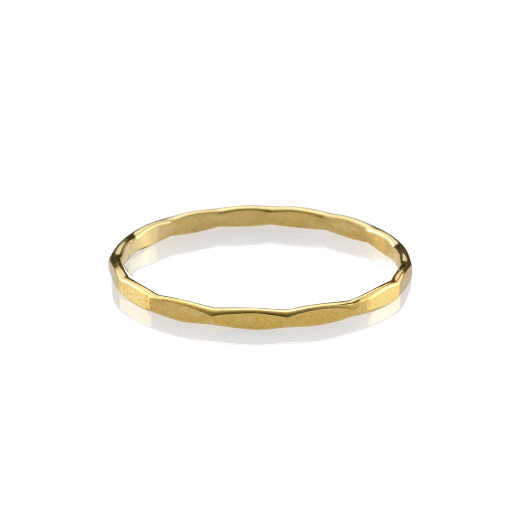 Augusta Hammered Stacking Ring - Jomami