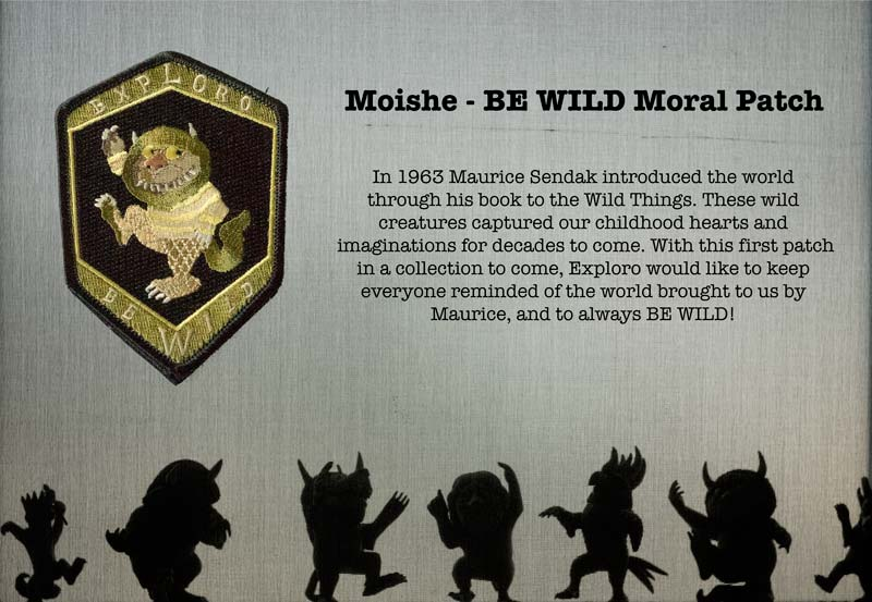 Moishe - BE WILD Moral Patch