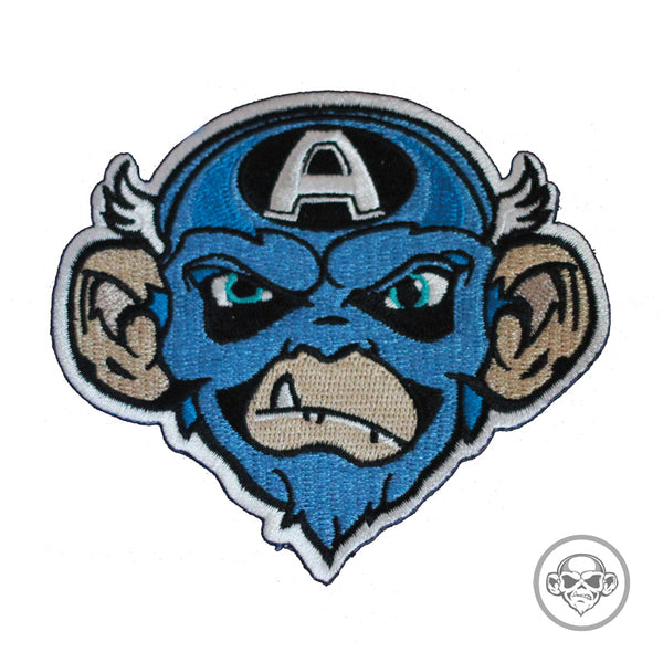 Grumpy Captain America Monkey Morale Patch