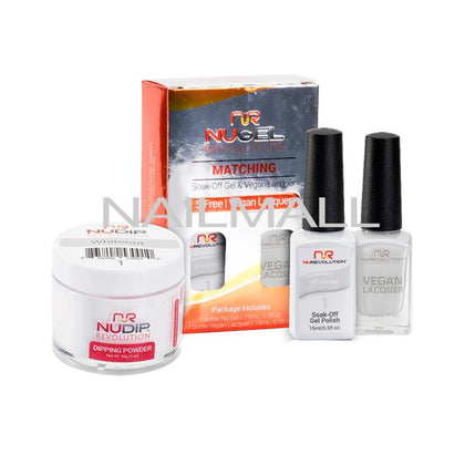 Nurevolution Trio - Gel, Lacquer, & Dip Combo - 1 - Whiteout