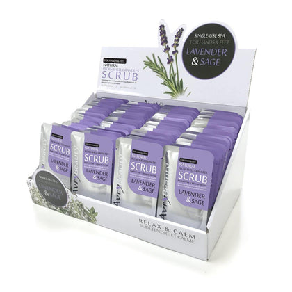 AVRY SPA LAVENDER & SAGE SCRUB 100pc - NAILMALL - Nail Supply Store Avry Beauty