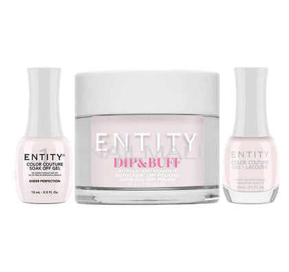 Entity Trio - Gel, Lacquer, & Dip Combo - SHEER PERFECTION  - 5301619
