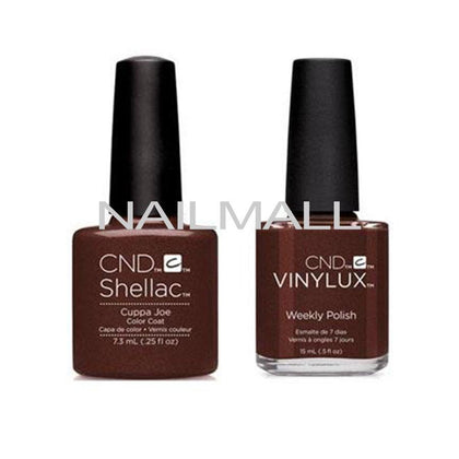 CND Shellac with matching Vinylux - Cuppa Joe