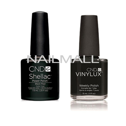 CND Shellac with matching Vinylux - Black Pool