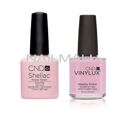 CND Shellac with matching Vinylux - Cake Pop
