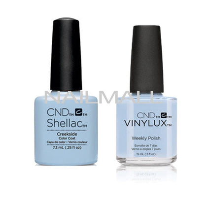 CND Shellac with matching Vinylux - Creekside