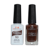 Brownie Points - NR53 - NuRevolution Duo - Gel & Lacquer Set