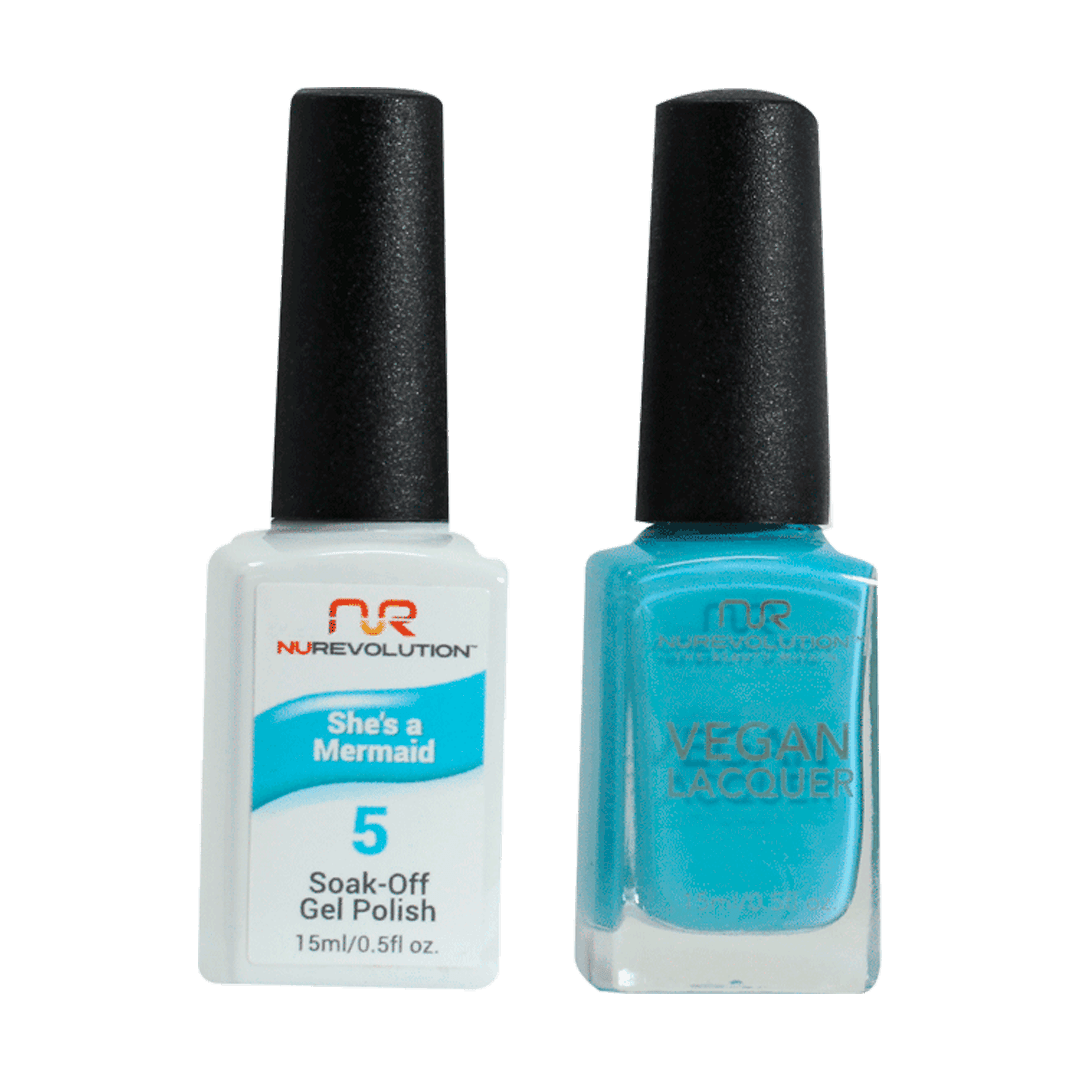 She's A Mermaid - NR05 - NuRevolution Duo - Gel & Lacquer Set