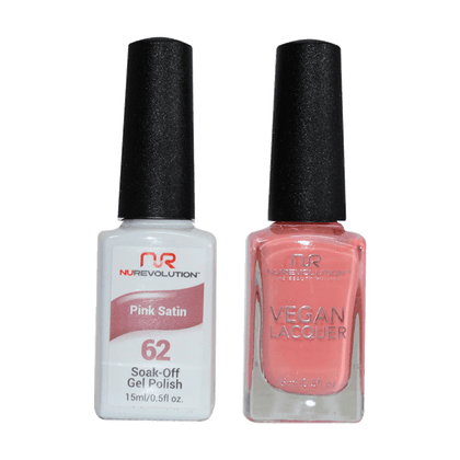 Pink Satin - NR62 - NuRevolution Duo - Gel & Lacquer Set