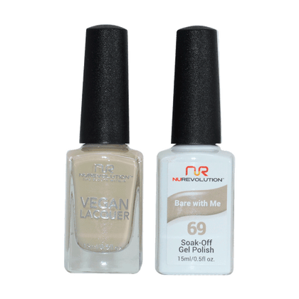 Bare With Me - NR69 - NuRevolution Duo - Gel & Lacquer Set - NailMall Atlanta