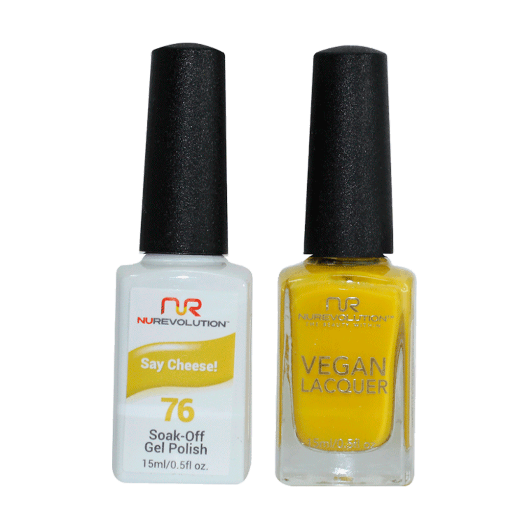 Say Cheese! - NR76 - NuRevolution Duo - Gel & Lacquer Set
