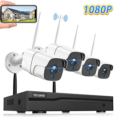 Classier: Buy TOGUARD TOGUARD Wireless Security Camera System 8CH 1080P NVR 4Pcs 1080P Outdoor/Indoor WiFi Surveillance Cameras with Motion Detection,Email Alert,Night Vision,Remote Monitor,Waterproof,No Hard Drive