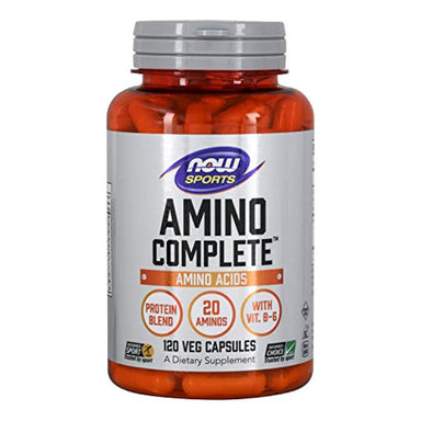 Classier: Buy NOW Foods NOW Sports Nutrition, Amino Complete, Protein Blend With 21 Aminos and B-6, 120-Capsules