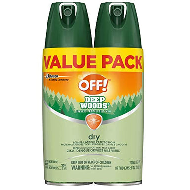Classier: Buy OFF! OFF! Deep Woods Insect & Mosquito Repellent VIII, DryTouch Technology, Long Lasting Protection 4 oz. (Pack of 2)