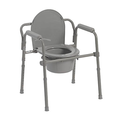 Classier: Buy Drive Medical Drive Medical Steel Folding Bedside Commode, Grey, Bariatric
