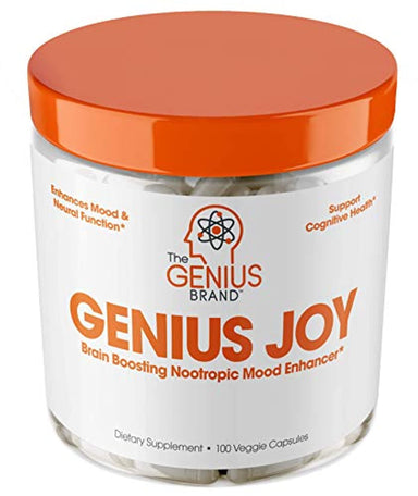 Classier: Buy The Genius Brand Genius Joy - Serotonin Mood Booster for Anxiety Relief, Wellness & Brain Support, Nootropic Dopamine Stack w/Sam-e, Panax Ginseng & L-Theanine – Natural Anti Stress & Herbal Calm, 100 veggie pills