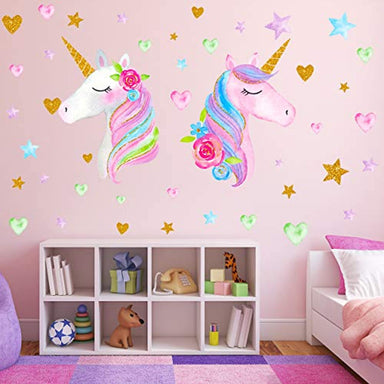 Classier Prime: Buy Neasyth 2 Sheets Large Size Unicorn Wall Decor,Removable Unicorn Wall Decals Stickers Decor for Gilrs Kids Bedroom Nursery Birthday Party Favor(Neasyth Store 9.99 $) (2 PCS)