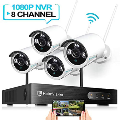 Classier: Buy heimvision HeimVision HM241 1080P Wireless Security Camera System, 8CH NVR 4Pcs Outdoor WiFi Surveillance Camera with Night Vision, Waterproof, Motion Alert, Remote Access, No Hard Disk