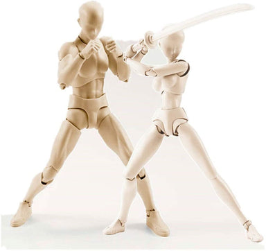 Classier Prime: Buy AbbonyDuo Body Kun DX Set Male& Female Gray Color Body-Chan Action Figure Model Set PVC Figure Model Drawing for SHF S H Figuarts