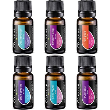 Classier: Buy O'linear Top 6 Blends Essential Oils Set - Aromatherapy Diffuser Blends Oils for Sleep, Mood, Breathe, Muscle Relief, Temptation, Feel Good, Anxiety Relief
