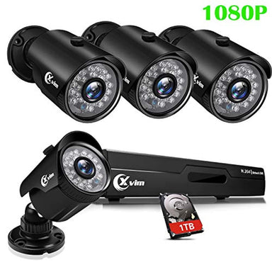 Classier: Buy XVIM XVIM 8CH 1080P Security Camera System Home Security Outdoor 1TB Hard Drive Pre-Install CCTV Recorder 4pcs HD 1920TVL Upgrade Surveillance Cameras with Night Vision Easy Remote Access Motion Alert