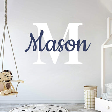 "Classier Prime: Buy cryptonite Custom Name & Initial - Prime Series - Baby Boy Girl Unisex - Wall Decal Nursery for Home Bedroom Children (Wide 40"" x 26"" Height)"