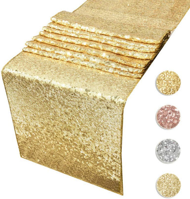 Classier Prime: Buy Acrabros Sequin Table Runners CHAMPAGNE GOLD- 12 X 108 Inch Glitter CHAMPAGNE GOLD Table Runner-CHAMPAGNE GOLD Party Supplies Fabric Decorations For Wedding Birthday