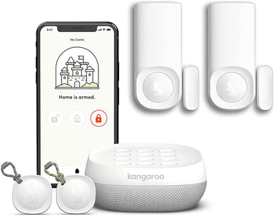 Classier: Buy Kangaroo Kangaroo Home Security System | 5-Piece Kit | Compatible with Alexa and Google Home | App-Based | Pet-Friendly | Reduces Insurance Premium |
