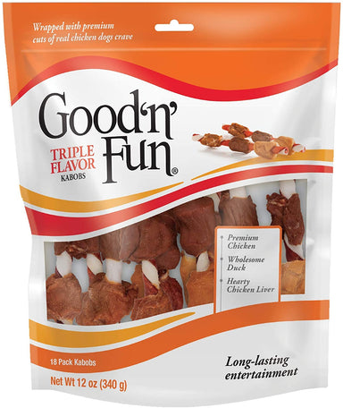 Classier Prime: Buy Good'n'Fun Good'N'Fun Triple Flavored Rawhide Kabobs for Dogs
