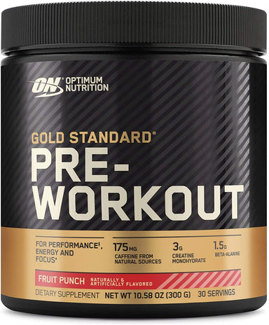 Classier: Buy Optimum Nutrition Optimum Nutrition Gold Standard Pre-Workout, Vitamin D for Immune Support, with Creatine, Beta-Alanine, and Caffeine for Energy, Keto Friendly, Fruit Punch, 30 Servings (Packaging May Vary)