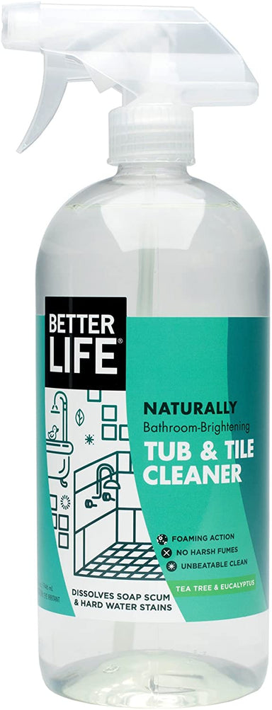 Classier Prime: Buy Better Life Better Life Natural Tub and Tile Cleaner, Tea Tree and Eucalyptus, 32 Fl Oz (Pack of 2)