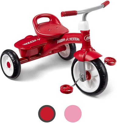 Classier Prime: Buy Radio Flyer Radio Flyer Pink Rider Trike, outdoor toddler tricycle, ages 3-5 (Amazon Exclusive)