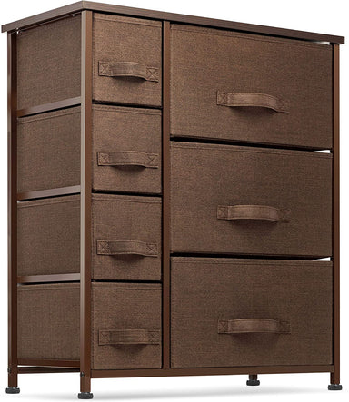Classier Prime: Buy Seseno 7 Drawers Dresser - Furniture Storage Tower Unit for Bedroom, Hallway, Closet, Office Organization - Steel Frame, Wood Top, Easy Pull Fabric Bins Gray/White