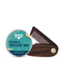 Load image into Gallery viewer, Beard and Mustache Wax & Folding Beard Comb