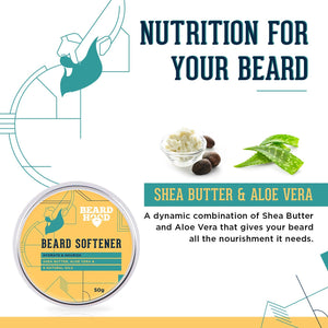 Beard Softener For Men - Shea Butter and 6 Natural Oils, 50g
