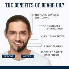 Load image into Gallery viewer, Earthy Tones Beard Oil (30ml) & Natural Bristles Beard Brush