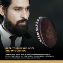 Load image into Gallery viewer, Café Valentino Beard Oil (30ml) & Natural Bristles Beard Brush