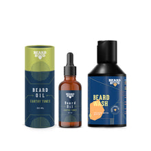Load image into Gallery viewer, Earthy Tones Beard Oil (30ml) & Beard Growth Wash (100ml)