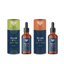 Load image into Gallery viewer, Earthy Tones (30ml) & Café Valentino (30ml) Beard Oil Combo